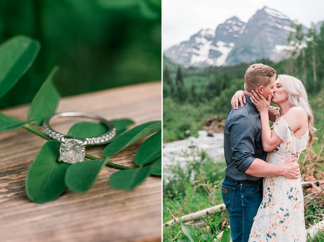 Tyler & Taylor | Aspen Engagement Photos at Maroon Bells