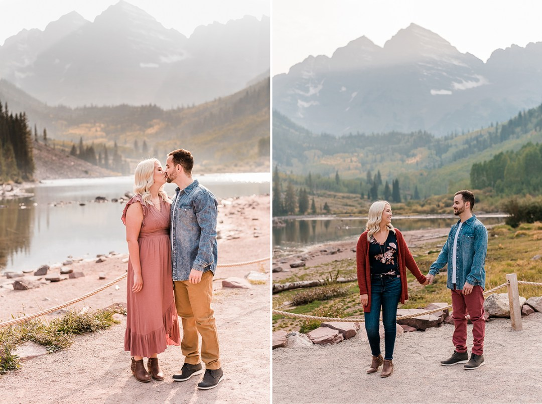 Morgan & Nick | Fall Engagement Photos at Maroon Bells