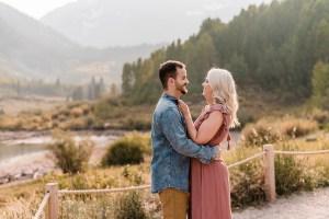 Morgan & Nick | Fall Engagement Photos at Maroon Bells