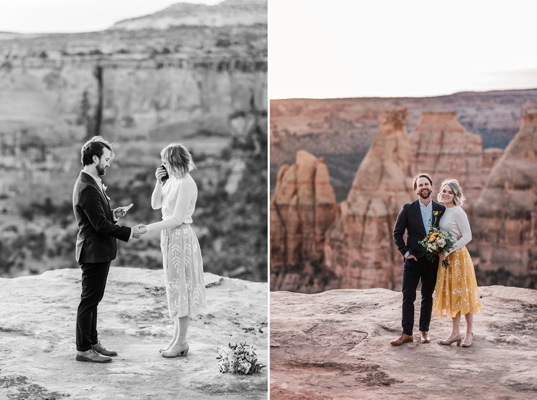 Cullen & Stesha | Sunrise Elopement on the Colorado National Monument