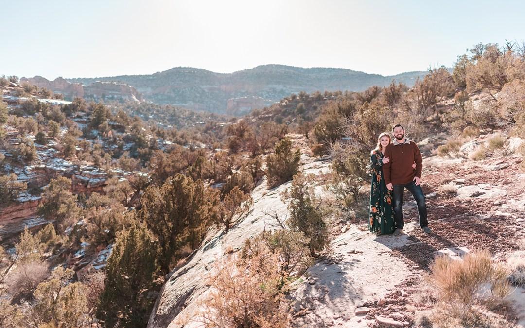 Derek & Brooke   Engagement Photos in the Fruita Wilderness