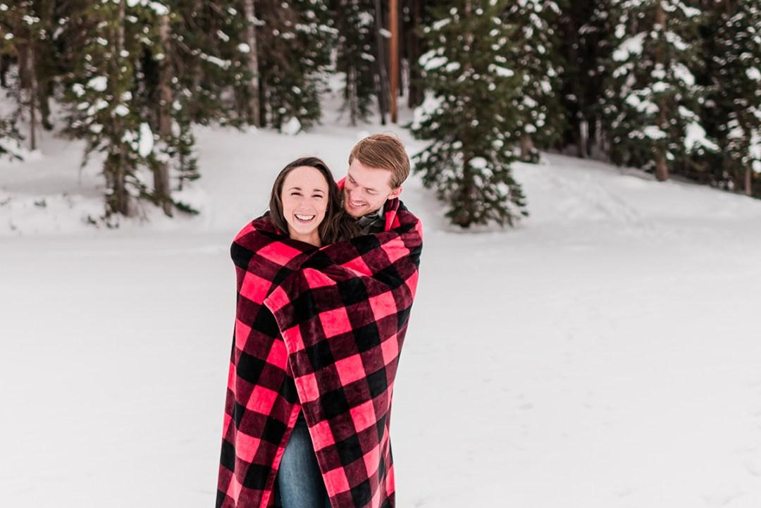 Erin & Casey | Snowy Couples Photos on the Grand Mesa