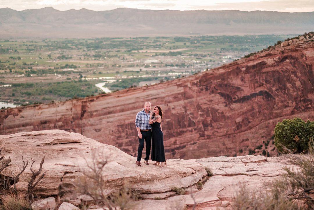 Jordan & Jessica   Engagement on the Colorado National Monument