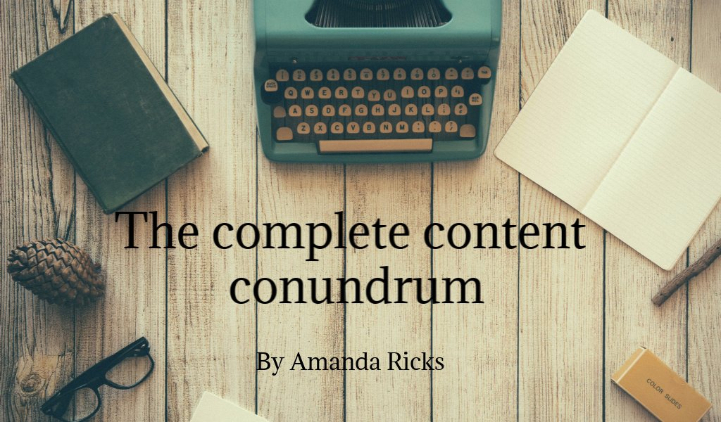 the complete conundrum header by amandaricks.com