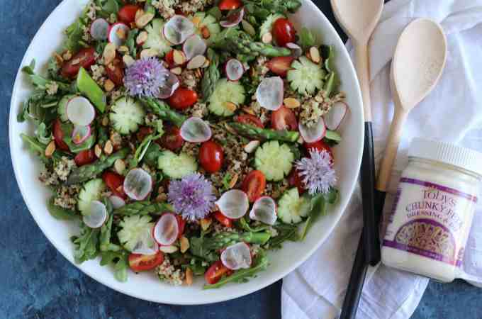 Spring Salad with Tobys Chunky Feta