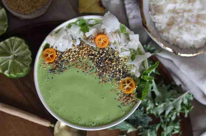Pina Colada Green Smoothie Recipe