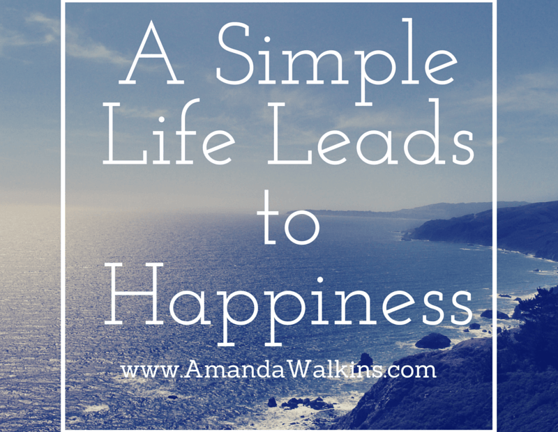 simple life leads to happiness