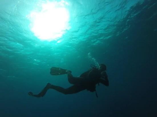 Caribbean dive instructor