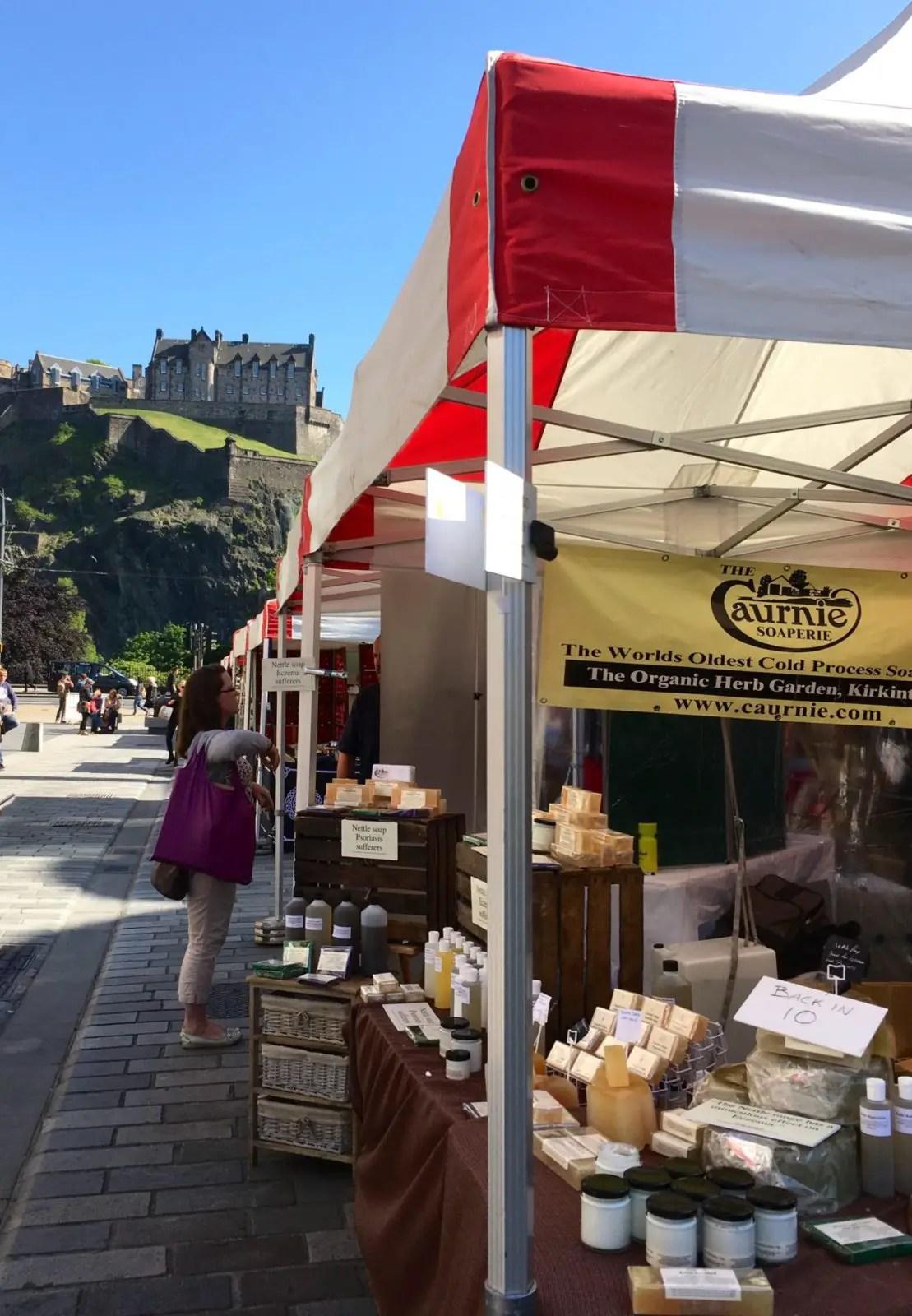 Edinburgh castle farmers market