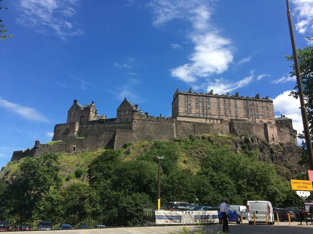 Edinburgh Castle from Castle Terrace