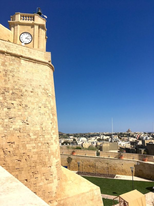 The walls of the Citadel in Victoria Gozo