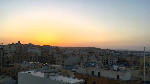 sunset over Malta