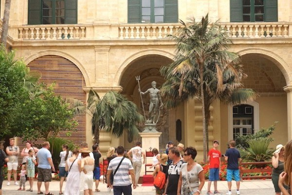 Neptune's Courtyard at the Grand Master's Palace in Valletta
