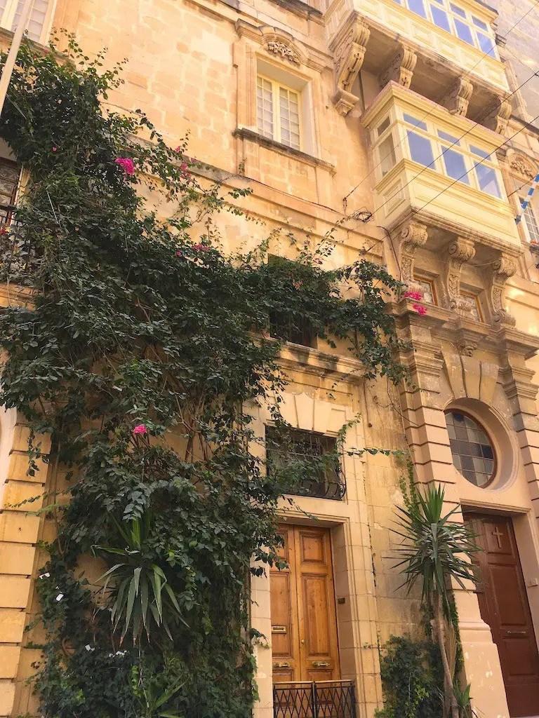 Beautiful buildings of Valletta, Malta