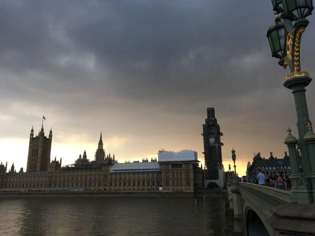 Big Ben construction in London