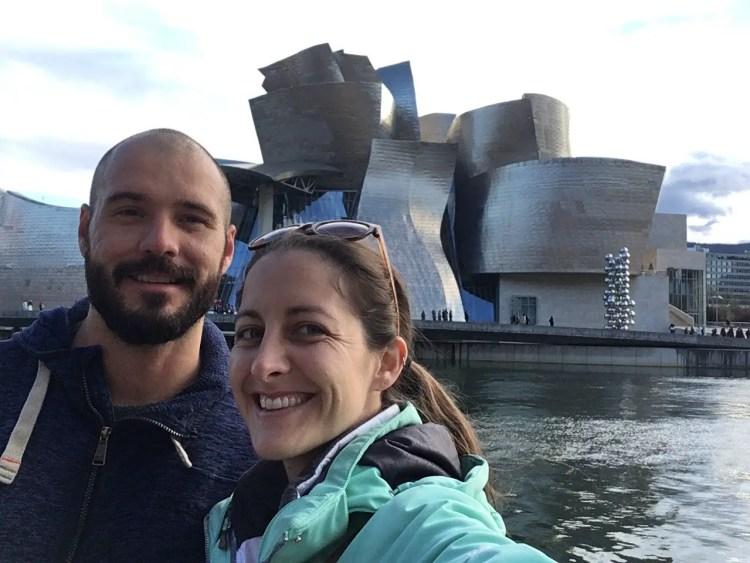 Jonathan Clarkin and Amanda Walkins in Bilbao Spain