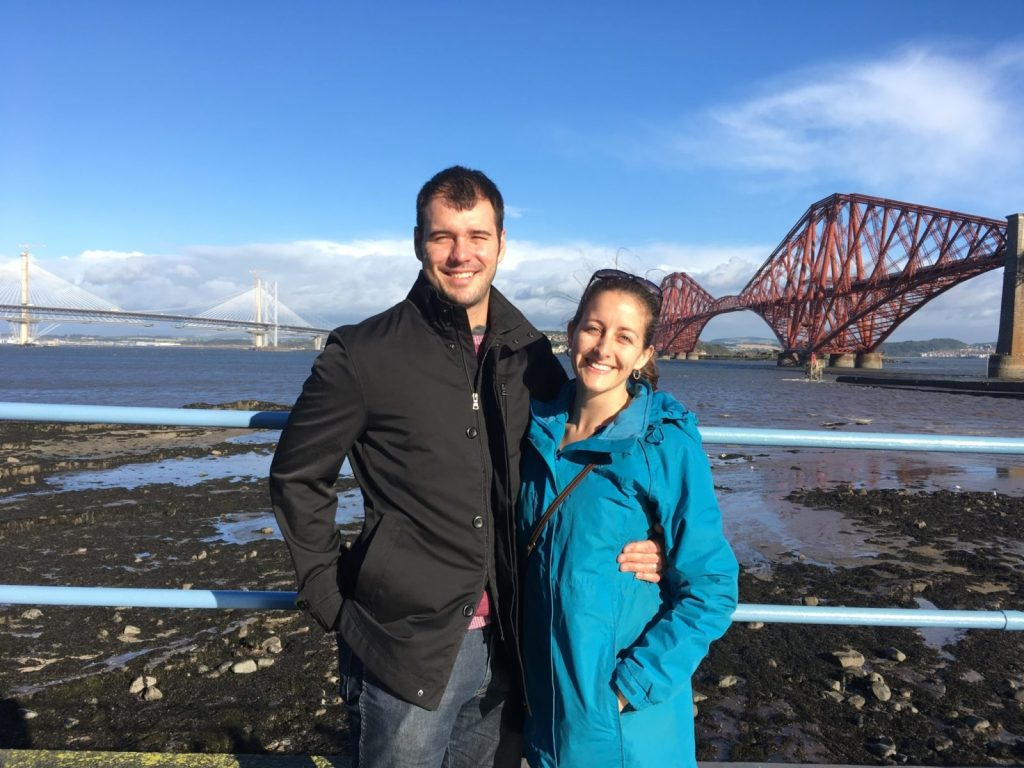 Jonathan Clarkin and Amanda Walkins at South Queensferry in Scotland