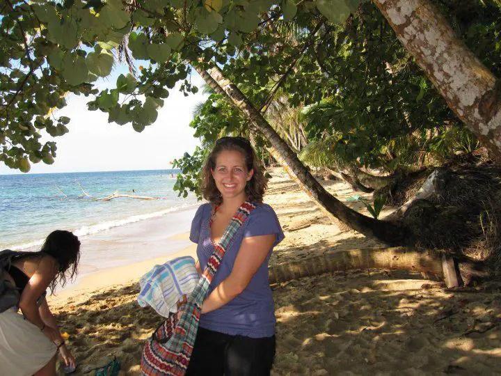 Amanda Walkins on a beach in Costa Rica