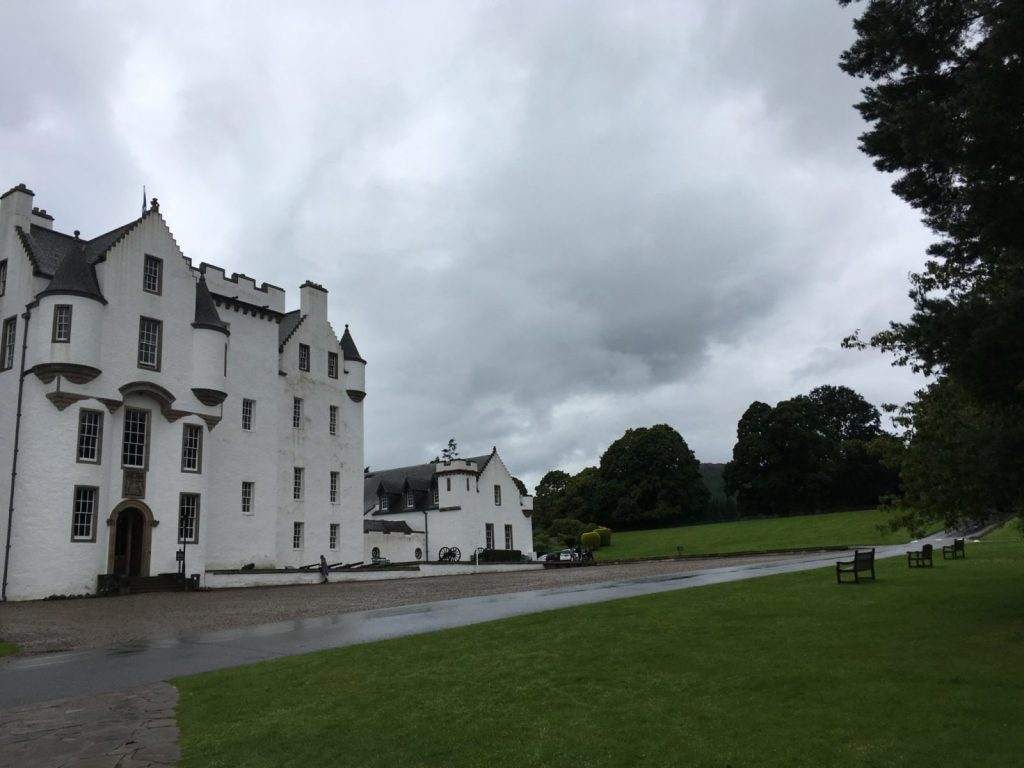 Blair Castle on an overcast day