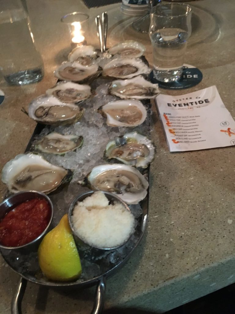 Oysters at Eventide in Portland ME