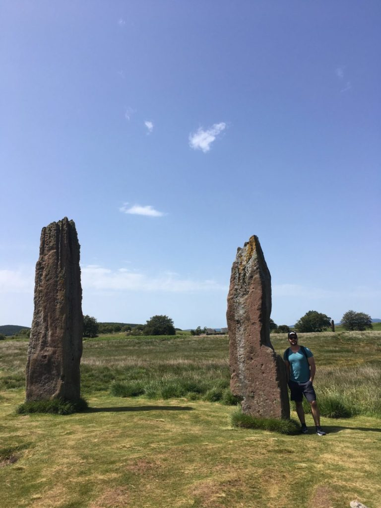 Jonathan Clarkin at the Machrie Moor standing stones Arran