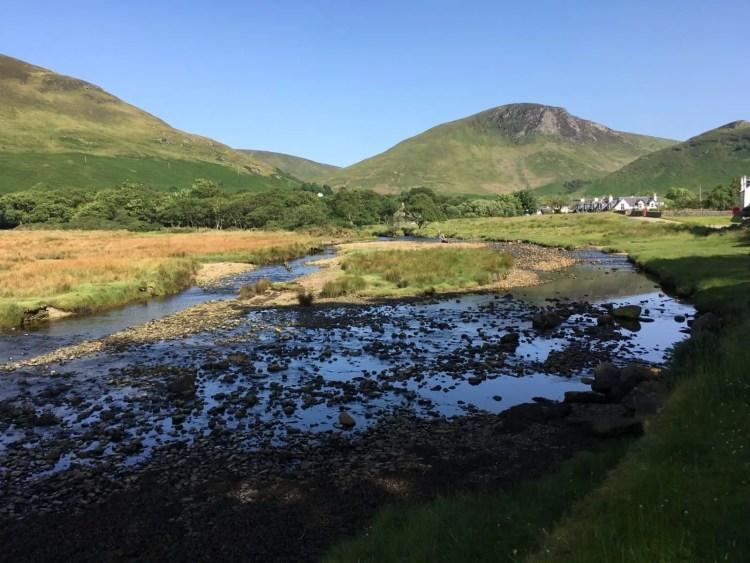 Lochranza Isle of Arran Scotland on a clear sunny day