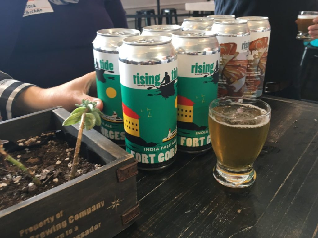 Visit Portland Maine for Rising Tide Brewery and other Brew Bus tour stops