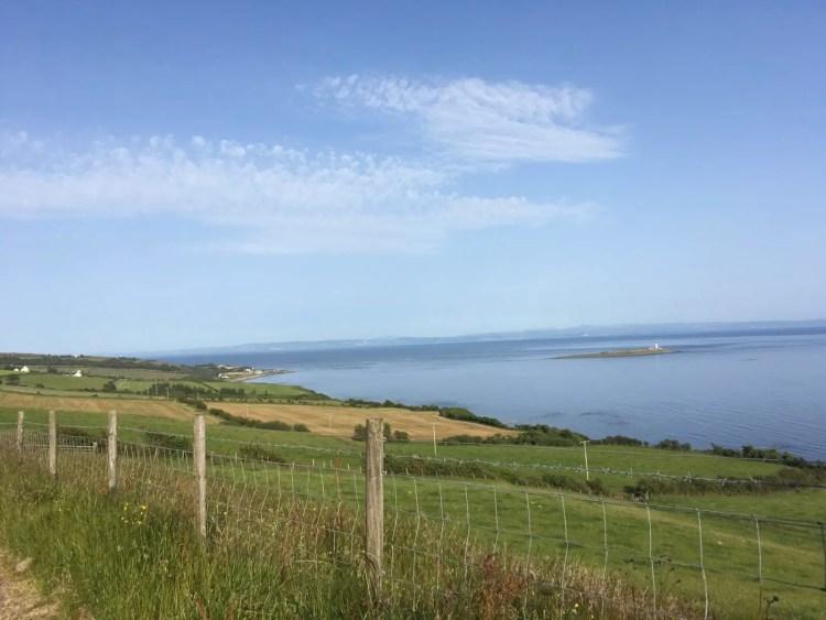 Coastal views driving around the Isle of Arran in Scotland