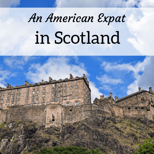 square header image for an American expat in Scotland
