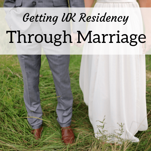 square header image for an article about getting UK residency through marriage