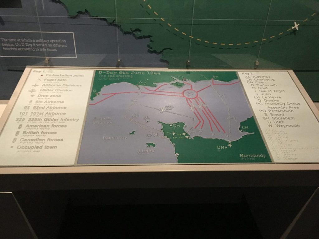 Map of D Day invasion from the Portsmouth D-Day Story Museum