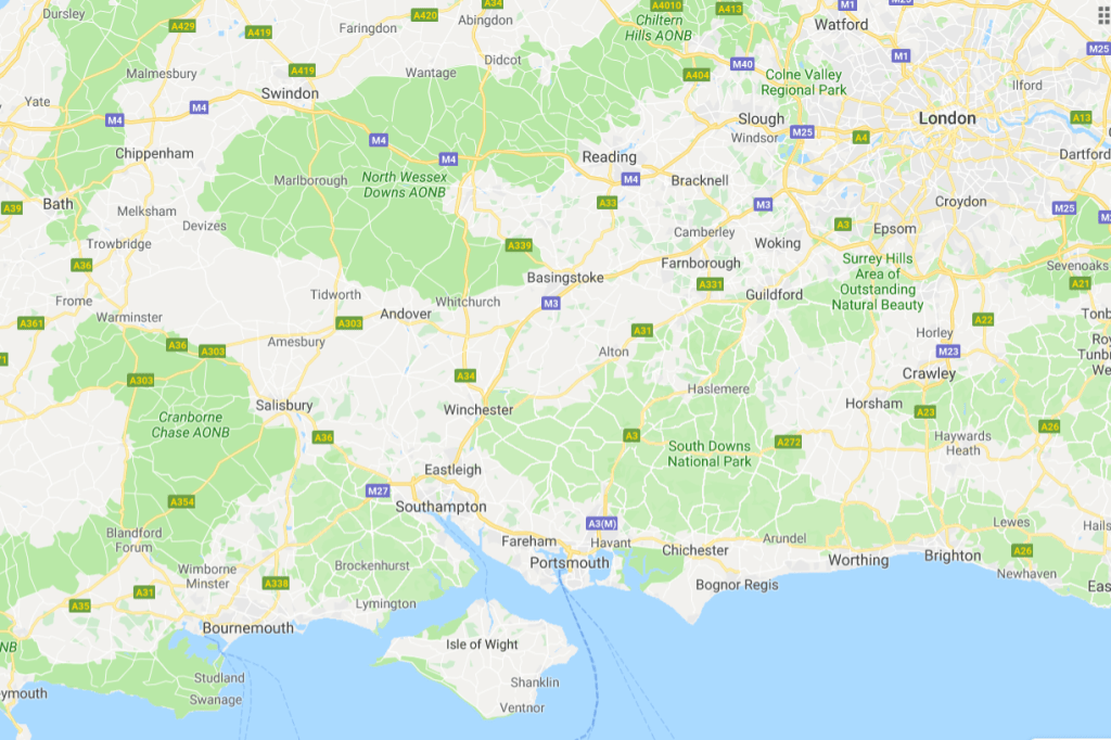 Isle of Wight location map