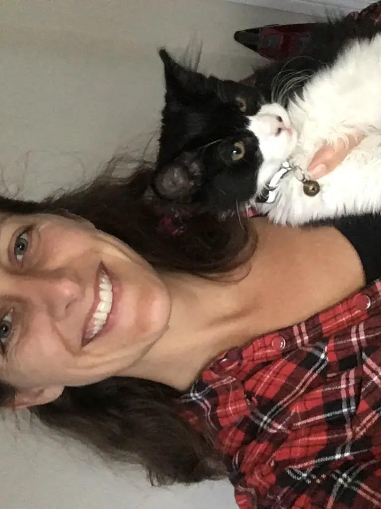 Amanda Walkins and Stirling the cat