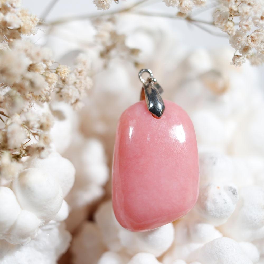 Pendentif en opale rose