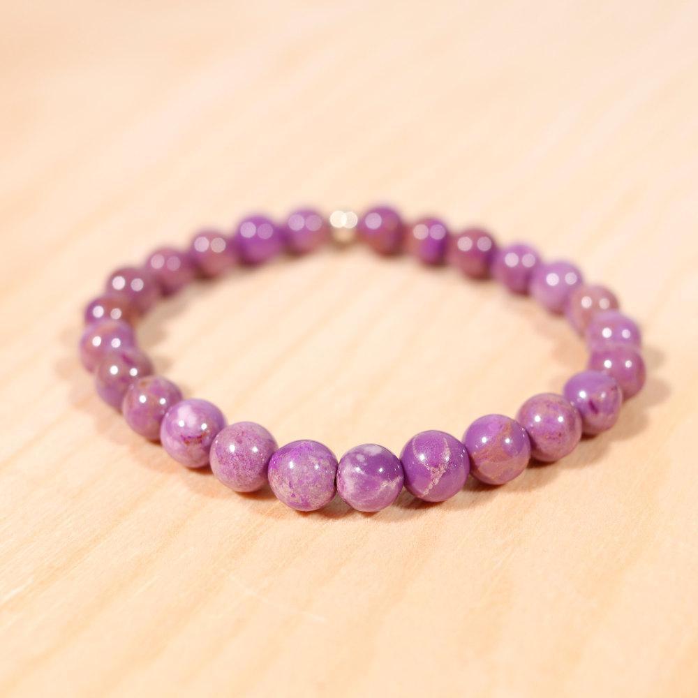 Bracelet en phosphosidérite, perles de 6 mm