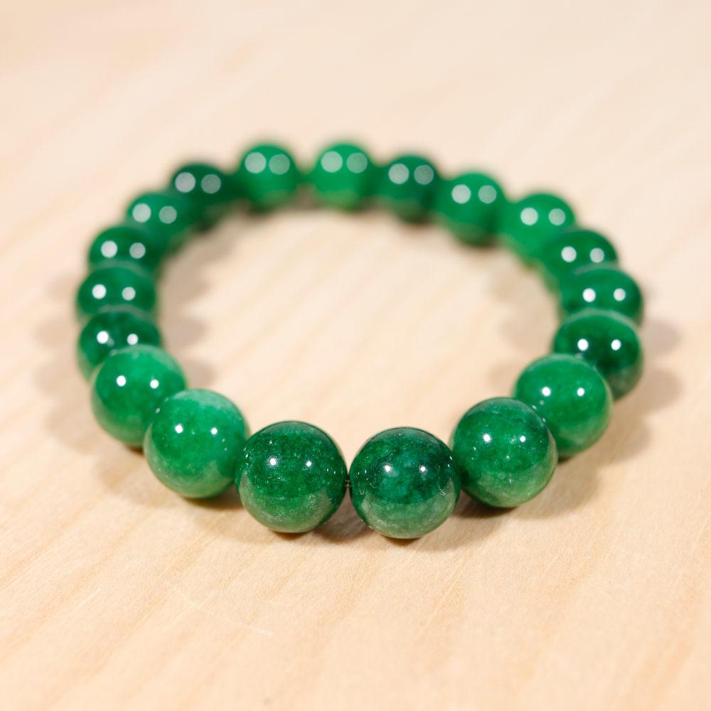 Bracelet en jade africain, perle en 10 mm