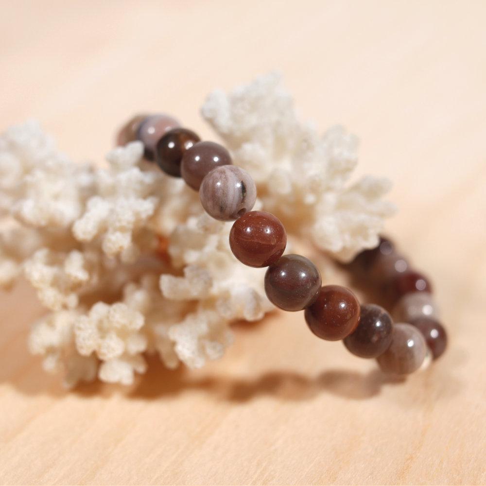 Bracelet en bois fossile