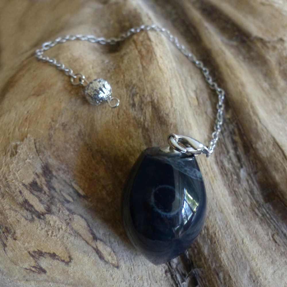 Pendule en obsidienne spider, modèle 1
