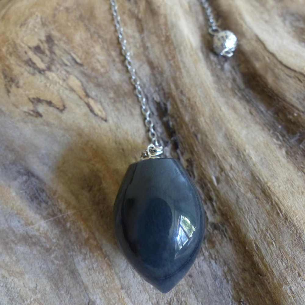 Pendule en obsidienne spider, modèle 2