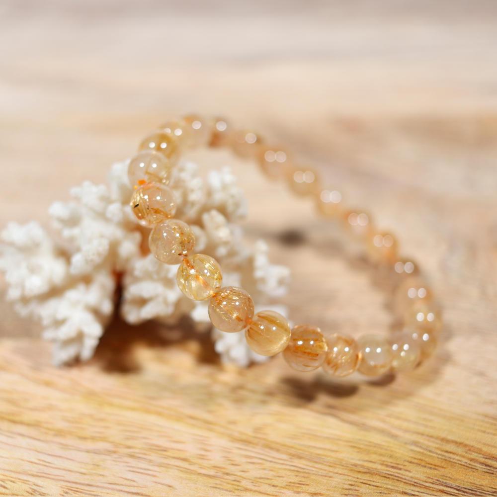 Bracelet en quartz rutile