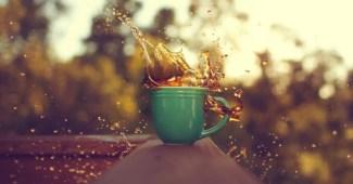 cafe latte derrames derramar