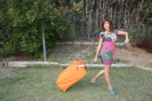 Pilar con maleta tupper