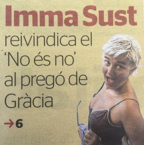 Este año ha sido muy especial para amantis Gràcia. Porque nuestra encargada Imma Sust, ¡también era la pregonera de las fiestas!