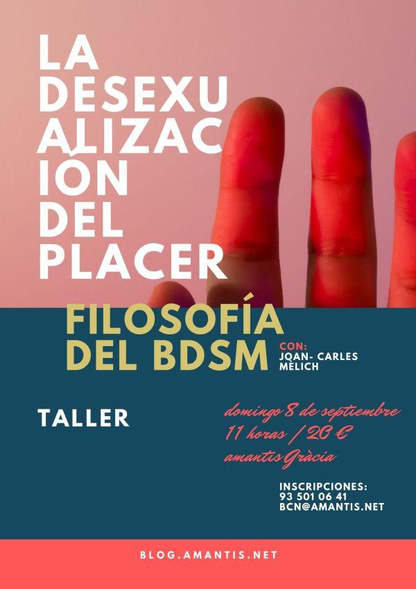 Flyer Charla Filosofía BDSM