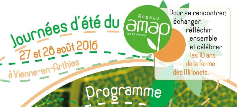 A vos agendas : la fête des AMAP en Ile de France