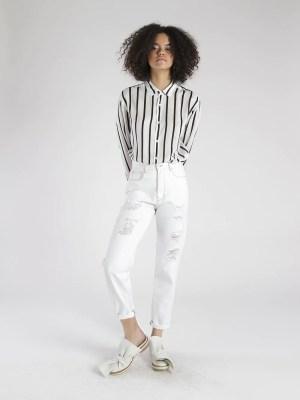mom jeans branco