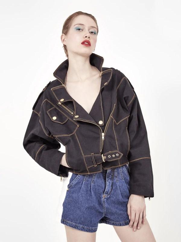 jaqueta jeans preto Amapô