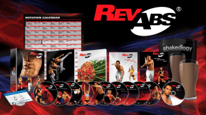 BeachBody Challenge Rev Abs Challenge Pack