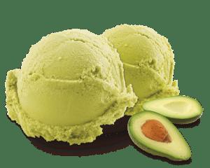 Crème glacée à l'avocat et à la noix de coco