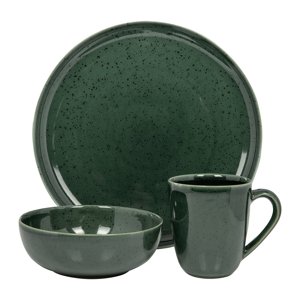 Buy Asa Selection Seasons Specked Plate Green Dinner Plate Amara